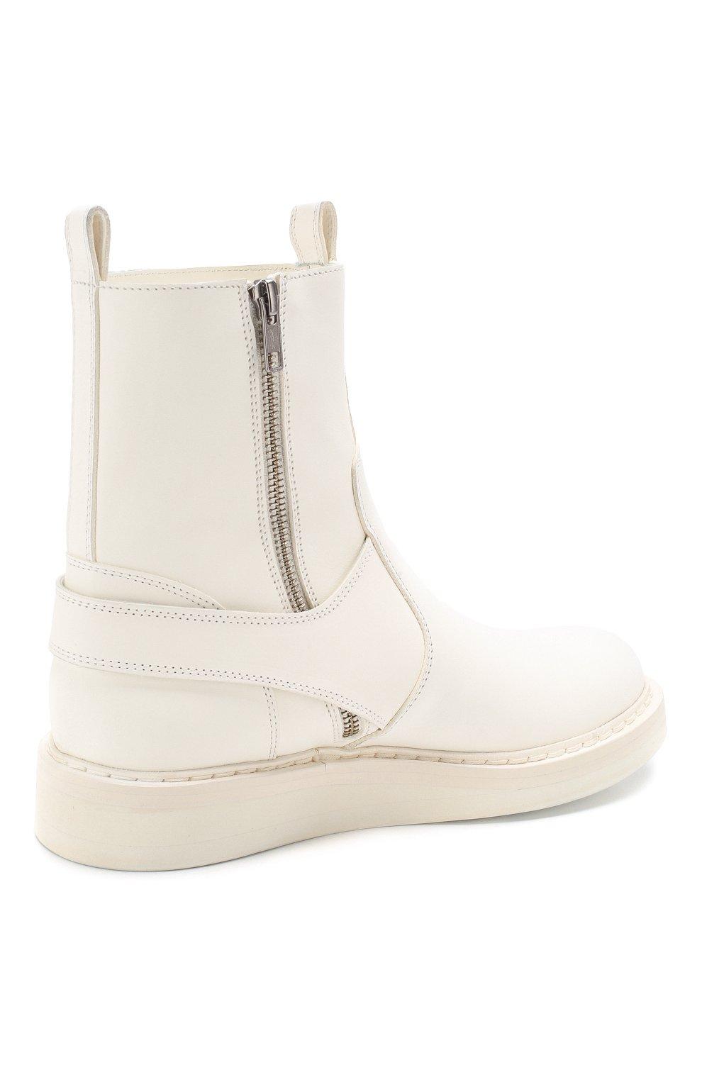 Женские кожаные ботинки ANN DEMEULEMEESTER белого цвета, арт. 2001-2808-356-001 | Фото 4