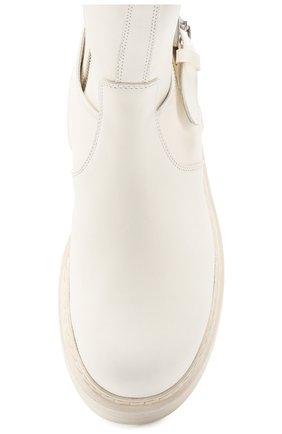 Женские кожаные ботинки ANN DEMEULEMEESTER белого цвета, арт. 2001-2808-356-001 | Фото 5