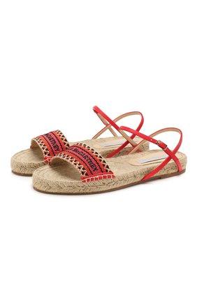Женские текстильные сандалии STELLA MCCARTNEY оранжевого цвета, арт. 800155/N0083 | Фото 1