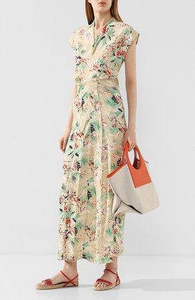 Женские текстильные сандалии STELLA MCCARTNEY оранжевого цвета, арт. 800155/N0083 | Фото 2