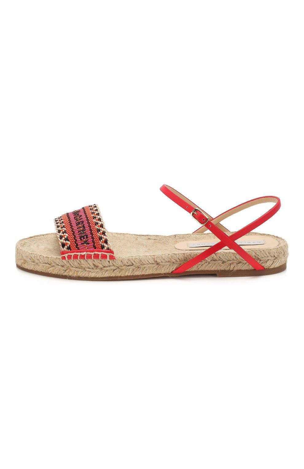 Женские текстильные сандалии STELLA MCCARTNEY оранжевого цвета, арт. 800155/N0083 | Фото 3