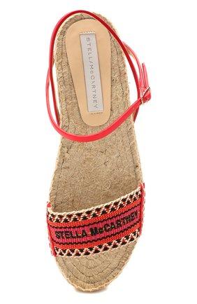 Женские текстильные сандалии STELLA MCCARTNEY оранжевого цвета, арт. 800155/N0083 | Фото 5