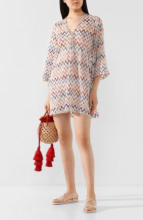 Женские текстильные сандалии emi RENE CAOVILLA розового цвета, арт. C10527-025-R001V790 | Фото 2