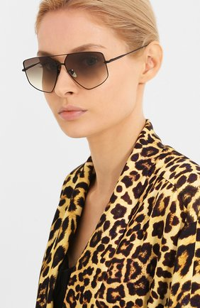 Мужские солнцезащитные очки EQUE.M черного цвета, арт. CALIF0RNIA G0LD/MB | Фото 2