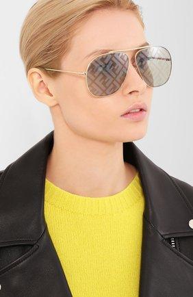 Мужские солнцезащитные очки FENDI золотого цвета, арт. 0407/G PEF | Фото 2