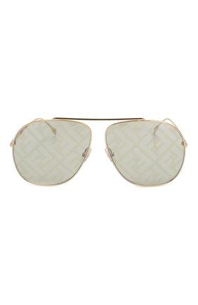 Женские солнцезащитные очки FENDI золотого цвета, арт. 0407/G PEF | Фото 3