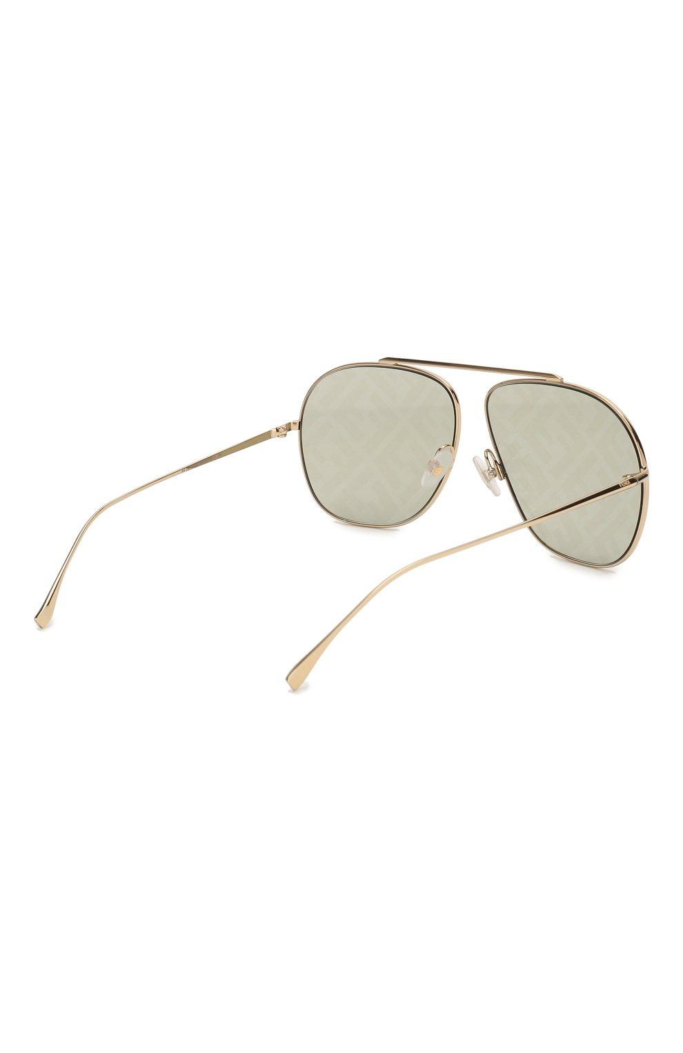 Женские солнцезащитные очки FENDI золотого цвета, арт. 0407/G PEF | Фото 4