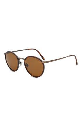 Женские солнцезащитные очки GIORGIO ARMANI коричневого цвета, арт. 101M-325933 | Фото 1
