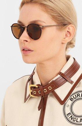 Женские солнцезащитные очки GIORGIO ARMANI коричневого цвета, арт. 101M-325933 | Фото 2