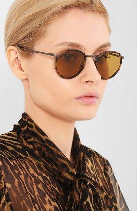 Женские солнцезащитные очки GIORGIO ARMANI коричневого цвета, арт. 101M-3292R9 | Фото 2