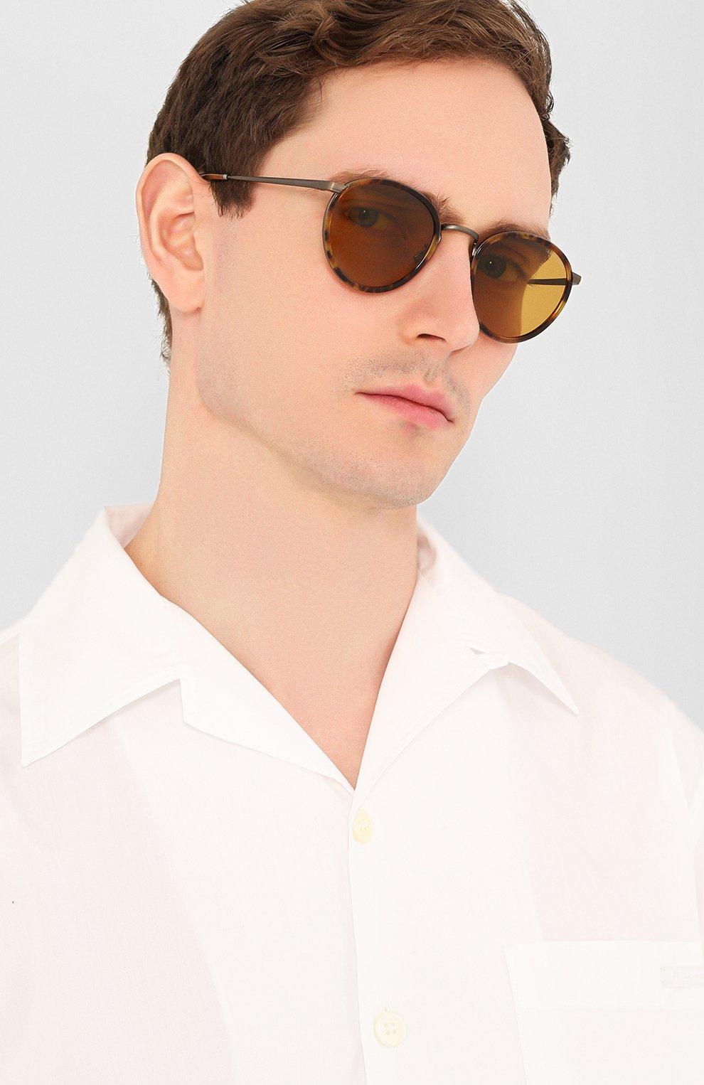 Женские солнцезащитные очки GIORGIO ARMANI коричневого цвета, арт. 101M-3292R9 | Фото 3