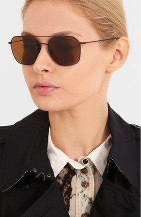 Женские солнцезащитные очки GIORGIO ARMANI коричневого цвета, арт. 6095T-327733 | Фото 2