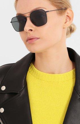 Женские солнцезащитные очки GIORGIO ARMANI синего цвета, арт. 6095T-3278R5 | Фото 2