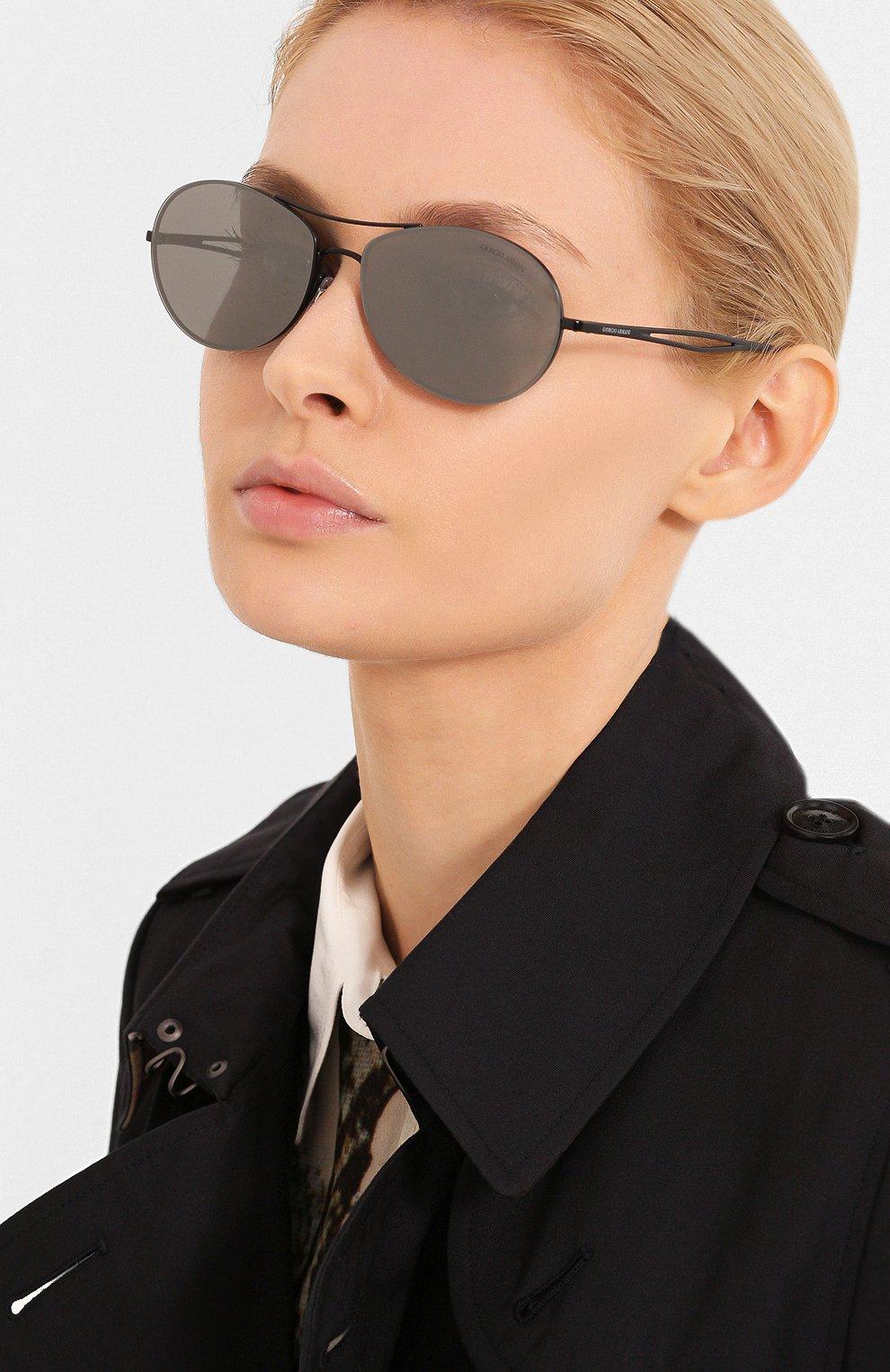 Женские солнцезащитные очки GIORGIO ARMANI серого цвета, арт. 6099-30016G | Фото 2