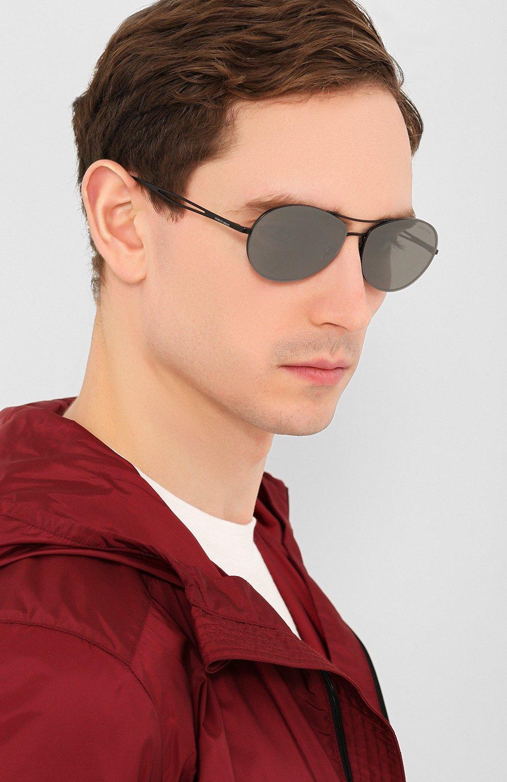 Женские солнцезащитные очки GIORGIO ARMANI серого цвета, арт. 6099-30016G | Фото 3