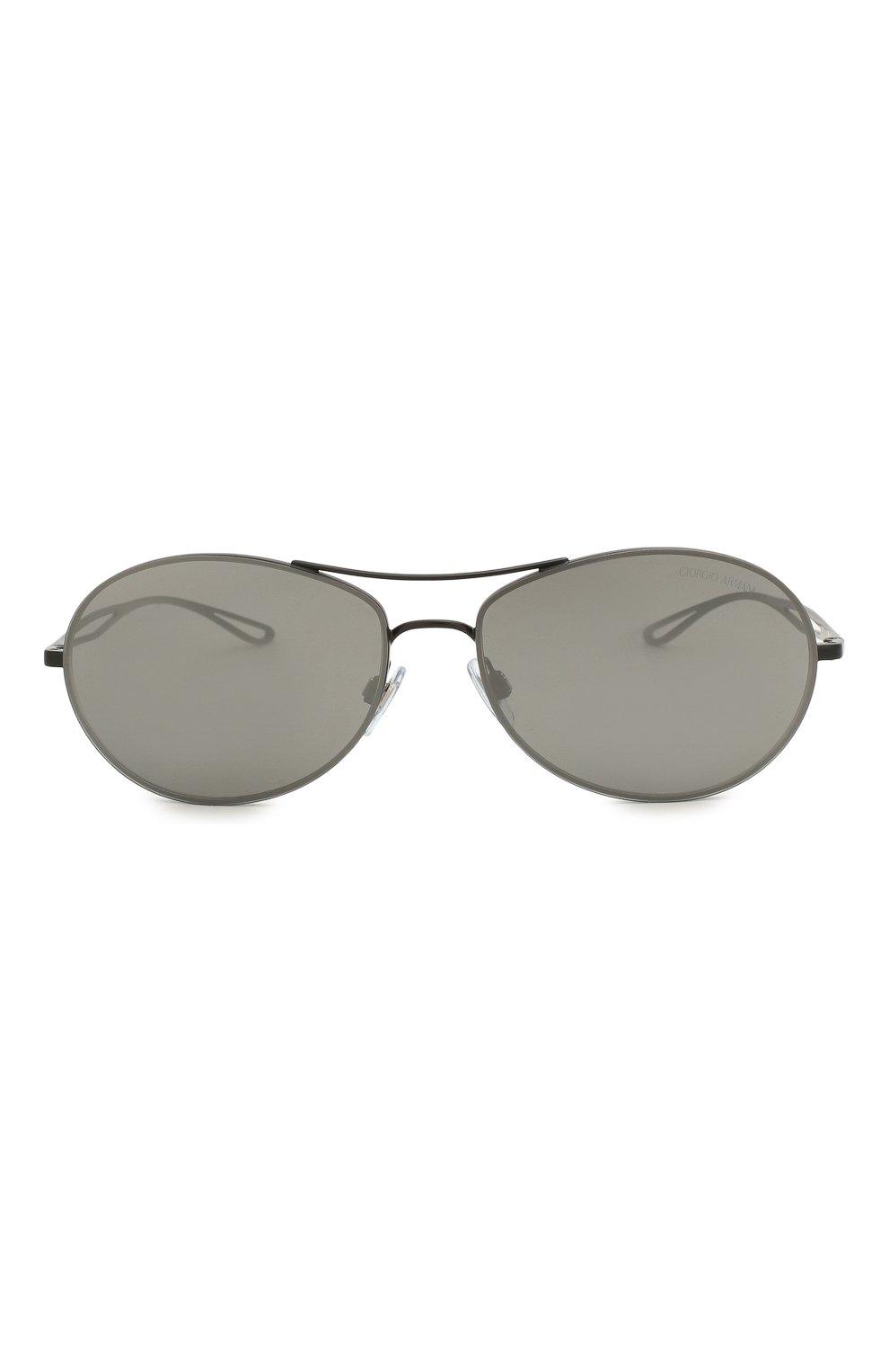 Женские солнцезащитные очки GIORGIO ARMANI серого цвета, арт. 6099-30016G | Фото 4