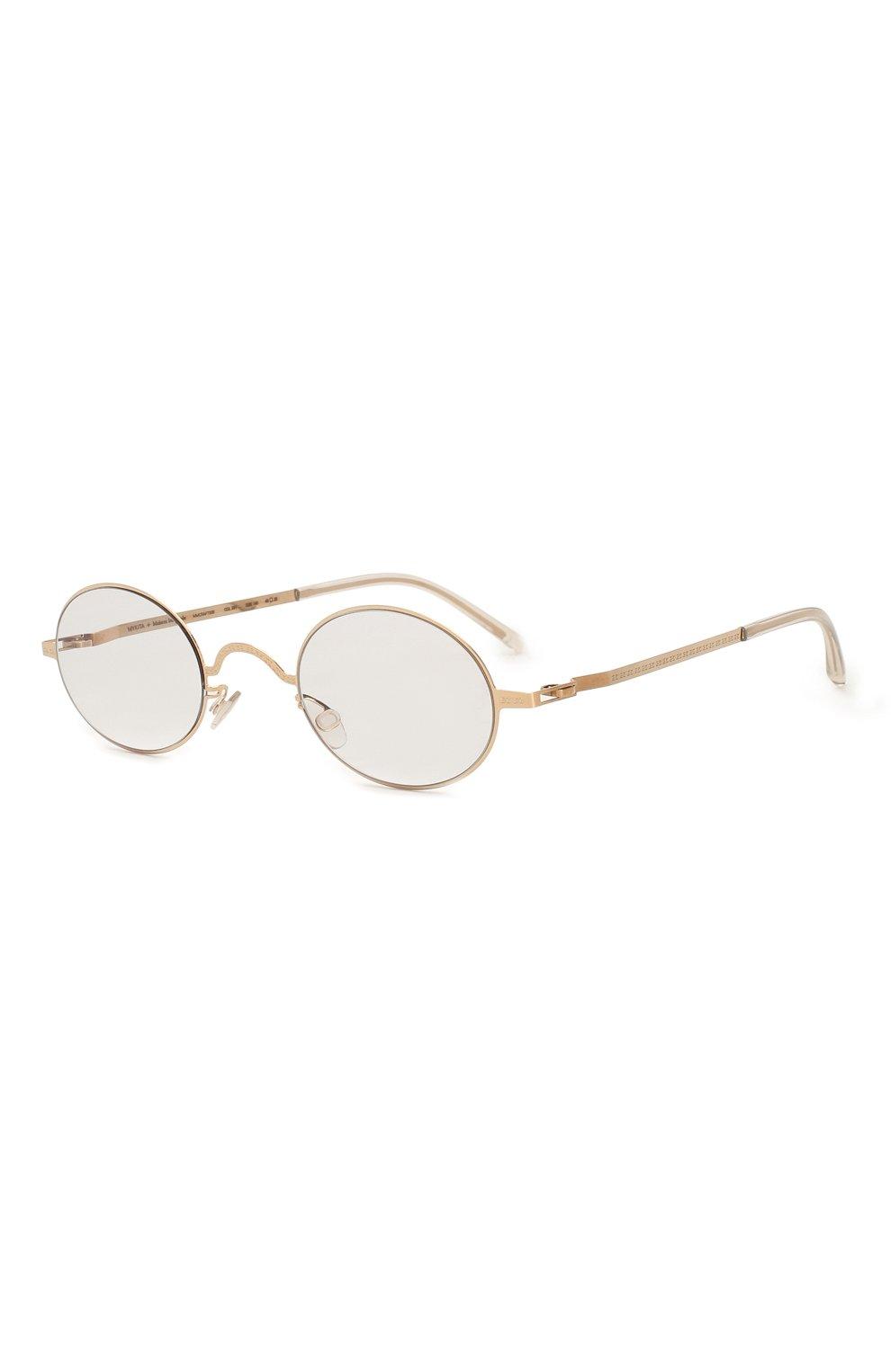Женские солнцезащитные очки MAISON MARGIELA золотого цвета, арт. MMCRAFT 005/291   Фото 1