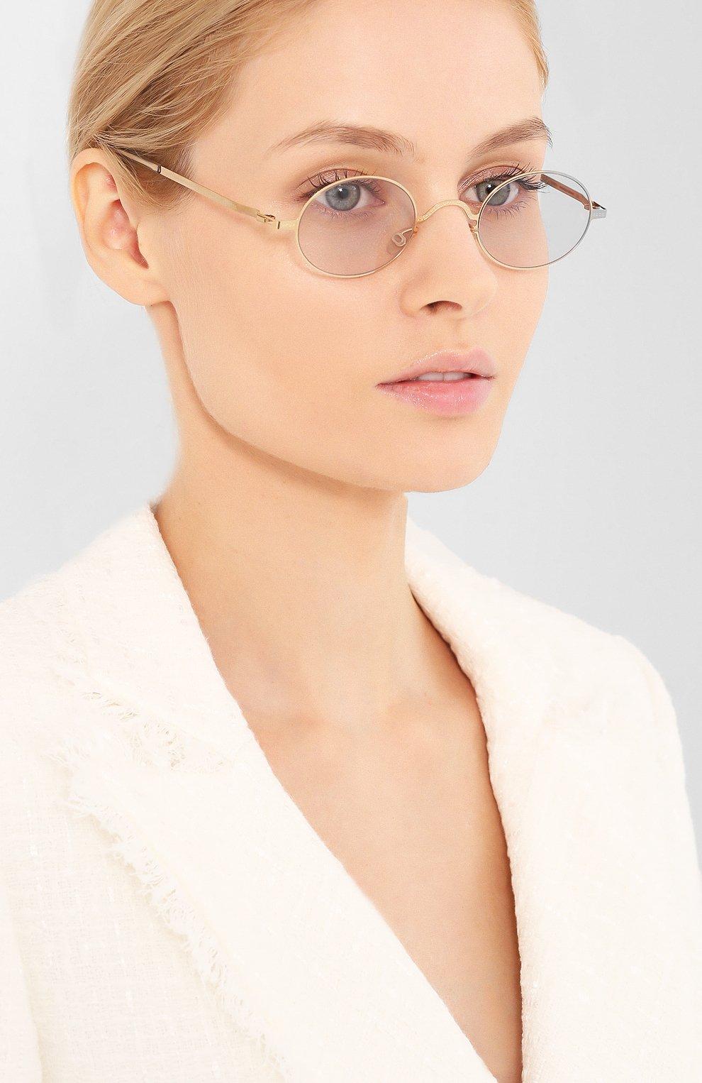 Женские солнцезащитные очки MAISON MARGIELA золотого цвета, арт. MMCRAFT 005/291   Фото 2