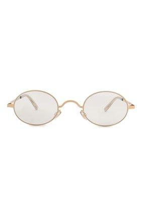 Женские солнцезащитные очки MAISON MARGIELA золотого цвета, арт. MMCRAFT 005/291   Фото 4
