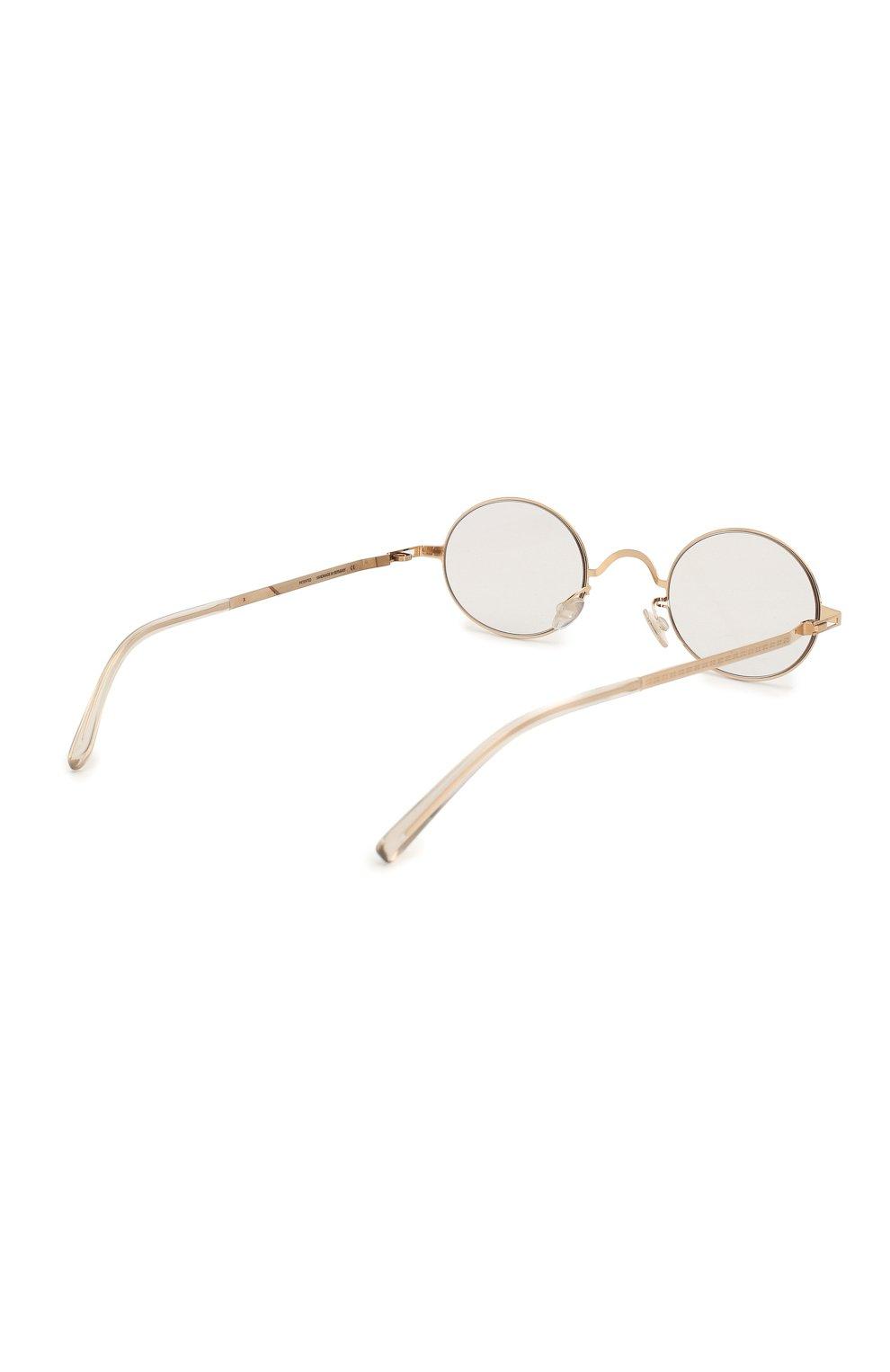 Женские солнцезащитные очки MAISON MARGIELA золотого цвета, арт. MMCRAFT 005/291   Фото 5