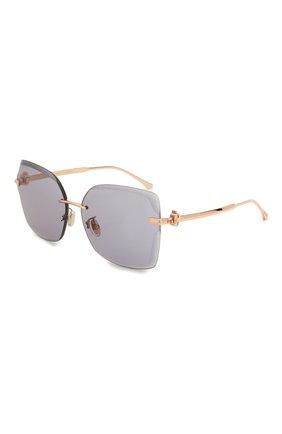 Женские солнцезащитные очки JIMMY CHOO серого цвета, арт. C0RIN/G DDB K1 | Фото 1