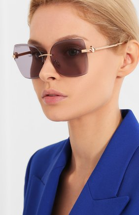 Женские солнцезащитные очки JIMMY CHOO серого цвета, арт. C0RIN/G DDB K1 | Фото 2