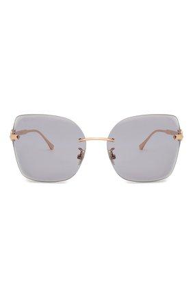 Женские солнцезащитные очки JIMMY CHOO серого цвета, арт. C0RIN/G DDB K1 | Фото 3