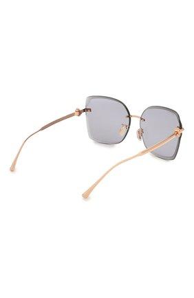 Женские солнцезащитные очки JIMMY CHOO серого цвета, арт. C0RIN/G DDB K1 | Фото 4