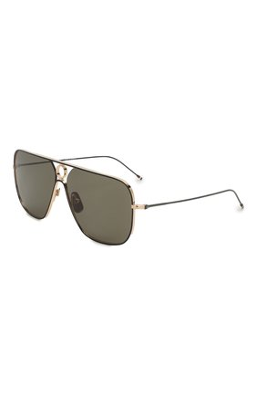 Женские солнцезащитные очки THOM BROWNE черного цвета, арт. TB-114-02 | Фото 1