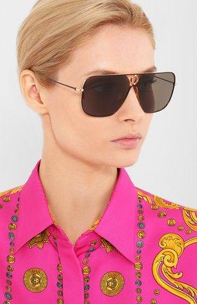 Женские солнцезащитные очки THOM BROWNE черного цвета, арт. TB-114-02 | Фото 2