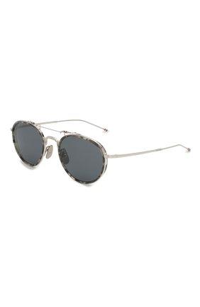 Женские солнцезащитные очки THOM BROWNE серебряного цвета, арт. TB-815-03 | Фото 1
