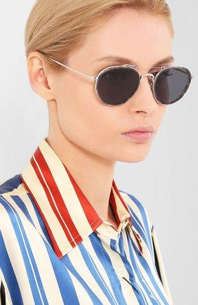 Женские солнцезащитные очки THOM BROWNE серебряного цвета, арт. TB-815-03 | Фото 2