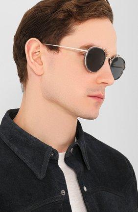 Женские солнцезащитные очки THOM BROWNE серебряного цвета, арт. TB-815-03 | Фото 3
