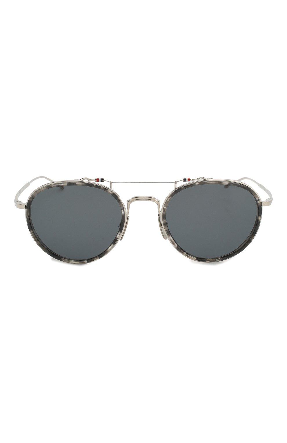 Женские солнцезащитные очки THOM BROWNE серебряного цвета, арт. TB-815-03 | Фото 4