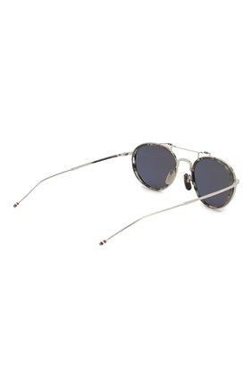 Женские солнцезащитные очки THOM BROWNE серебряного цвета, арт. TB-815-03 | Фото 5