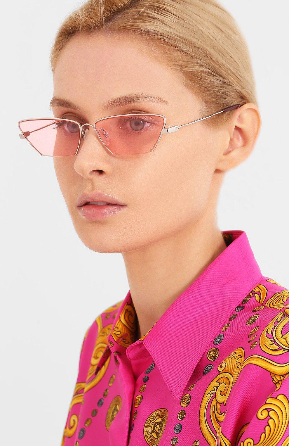 Женские солнцезащитные очки MCQ SWALLOW розового цвета, арт. MQ0259S 003 | Фото 2