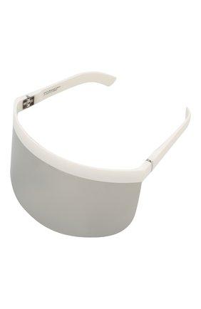 Женские солнцезащитные очки MYKITA серебряного цвета, арт. DAISUKE/WHITE | Фото 1 (Тип очков: С/з; Оптика Гендер: оптика-унисекс; Очки форма: Маска)