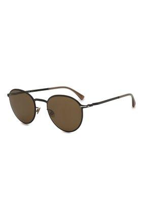 Женские солнцезащитные очки MYKITA коричневого цвета, арт. KASIMIR/BLACK | Фото 1 (Тип очков: С/з; Оптика Гендер: оптика-унисекс; Очки форма: Круглые)