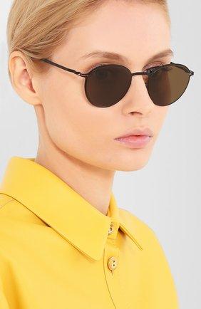 Женские солнцезащитные очки MYKITA коричневого цвета, арт. KASIMIR/BLACK | Фото 2 (Тип очков: С/з; Оптика Гендер: оптика-унисекс; Очки форма: Круглые)