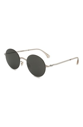 Женские солнцезащитные очки MYKITA черного цвета, арт. BLU/SILVER/CINER0USGREY | Фото 1 (Тип очков: С/з; Оптика Гендер: оптика-унисекс; Очки форма: Круглые)