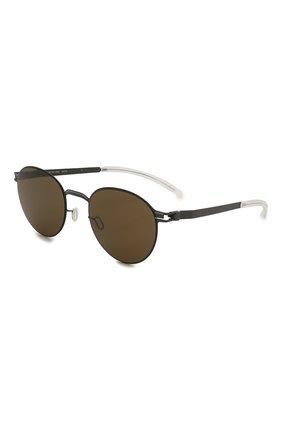 Женские солнцезащитные очки MYKITA коричневого цвета, арт. CARL0/ST0RMGREY/BLUEGREY | Фото 1 (Тип очков: С/з; Оптика Гендер: оптика-унисекс; Очки форма: Круглые)