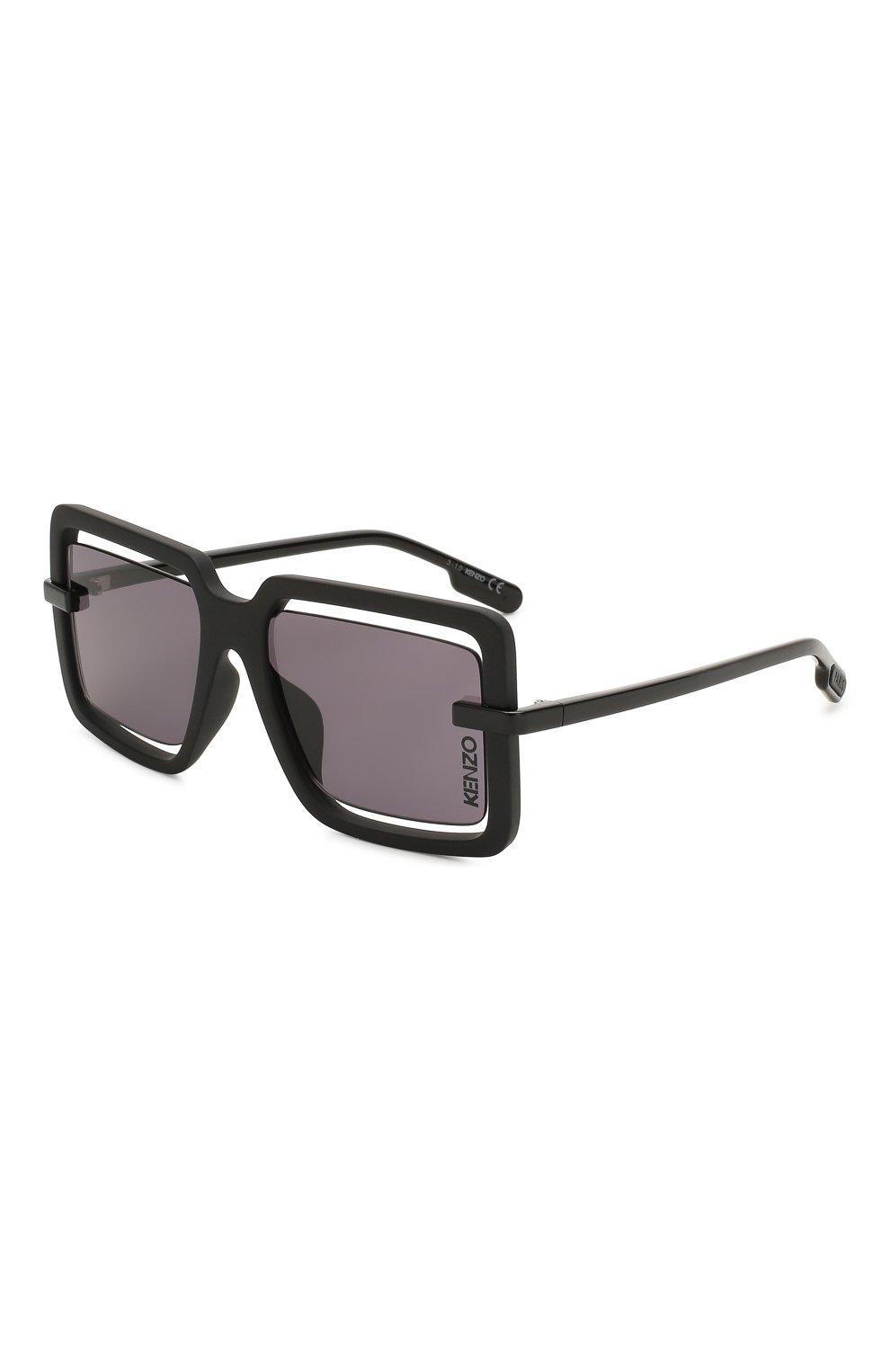 Женские солнцезащитные очки KENZO черного цвета, арт. KZ40049U 02A   Фото 1