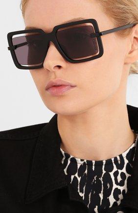Женские солнцезащитные очки KENZO черного цвета, арт. KZ40049U 02A   Фото 2