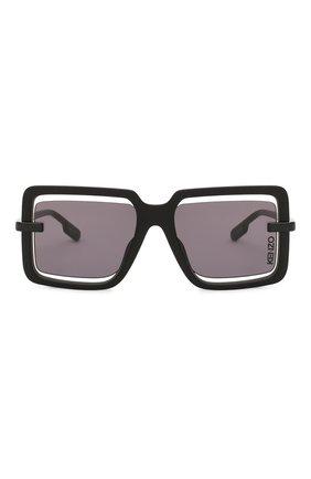 Женские солнцезащитные очки KENZO черного цвета, арт. KZ40049U 02A   Фото 3