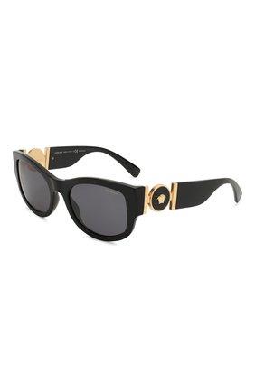 Женские солнцезащитные очки VERSACE черного цвета, арт. 4372-GB1/81 | Фото 1
