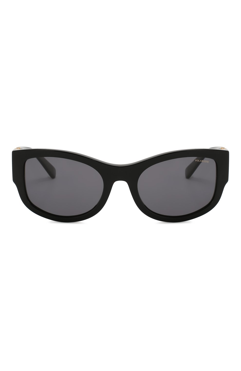 Женские солнцезащитные очки VERSACE черного цвета, арт. 4372-GB1/81 | Фото 3