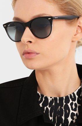 Женские солнцезащитные очки RAY-BAN синего цвета, арт. 2185-12943M   Фото 2