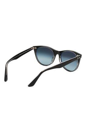 Женские солнцезащитные очки RAY-BAN синего цвета, арт. 2185-12943M   Фото 4