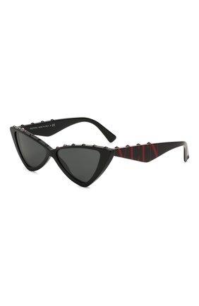 Женские солнцезащитные очки VALENTINO черного цвета, арт. 4064-500187 | Фото 1 (Тип очков: С/з; Оптика Гендер: оптика-женское; Очки форма: Cat-eye)