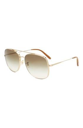 Женские солнцезащитные очки OLIVER PEOPLES светло-коричневого цвета, арт. 1272S-50358E   Фото 1